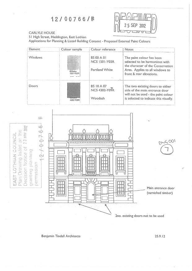 CH facade drawing