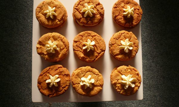 Ginger biscuits from above